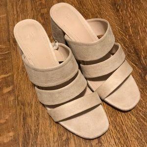 H&M Shoes - H&M Nude Block Sandals